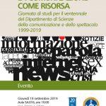 LA COMUNICAZIONE COME RISORSA Acec partecipa alla Giornata per il ventennale del Dipartimento di Scienze della comunicazione e dello spettacolo dell'Università Cattolica